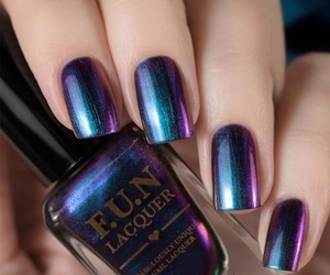 luxury, metallic, and nails image