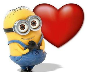 minions and ❤️ image