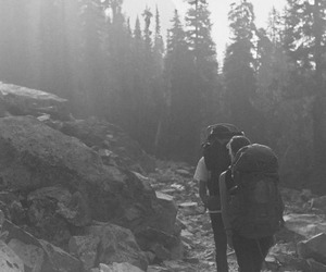 adventure, nature, and black & white image