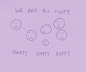 happy, sad, and grunge image