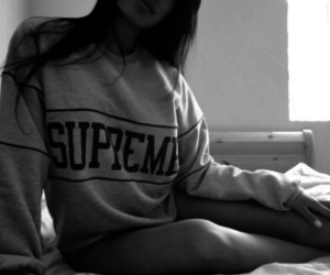 girl, supreme, and pale image