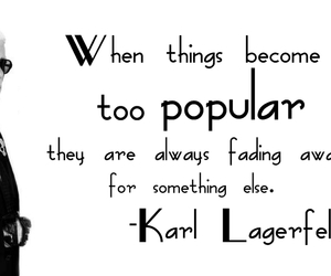 black and white, karl lagerfeld, and quotes image