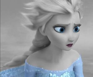 black and white, disney, and frozen image