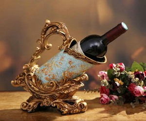 flowers, luxury, and wine image