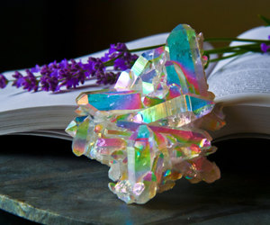 crystal, iridescent, and rainbow image
