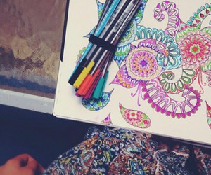 art, doodle, and colourful image