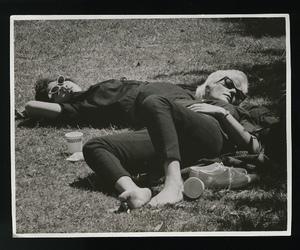 beatnik, girl, and retro image