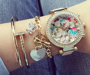 accessories, bracelet, and watch image
