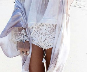boho, outfit, and beach image