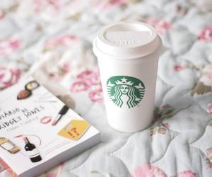 starbucks, book, and coffee image