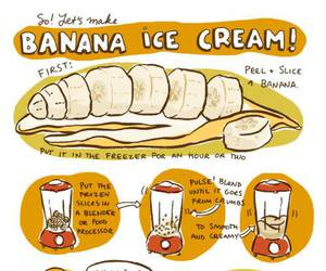 banana, ice cream, and food image