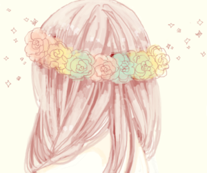 flowers, anime, and pink image