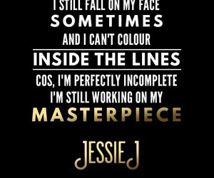 masterpiece, jessie j, and Lyrics image