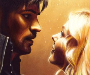 hook, emma swan, and once upon a time image