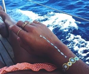 summer, tattoo, and beach image
