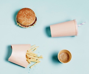 food, pastel, and burger image