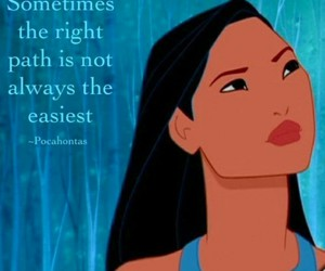 disney, not easy, and pocahontas image
