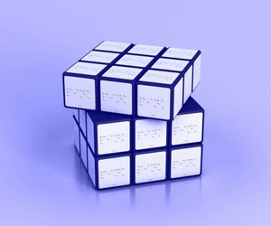 white, black, and cube image