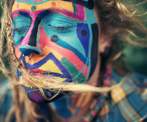 colors, dreads, and face image