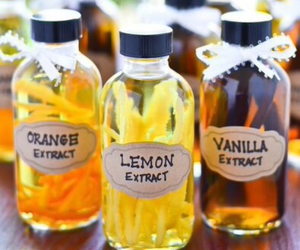 bottles, extract, and lemon image