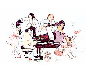 Amy Winehouse, draw, and Freddie Mercury image
