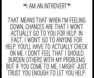 introvert, help, and quote image