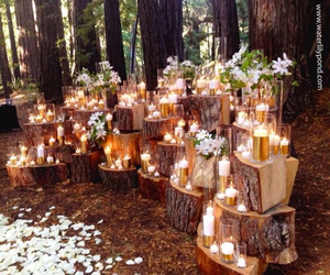 wedding, candles, and decor image