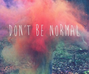 be, normal, and don't image