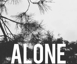alone and black image