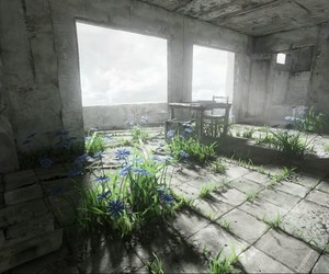 apocalypse, broken, and flowers image