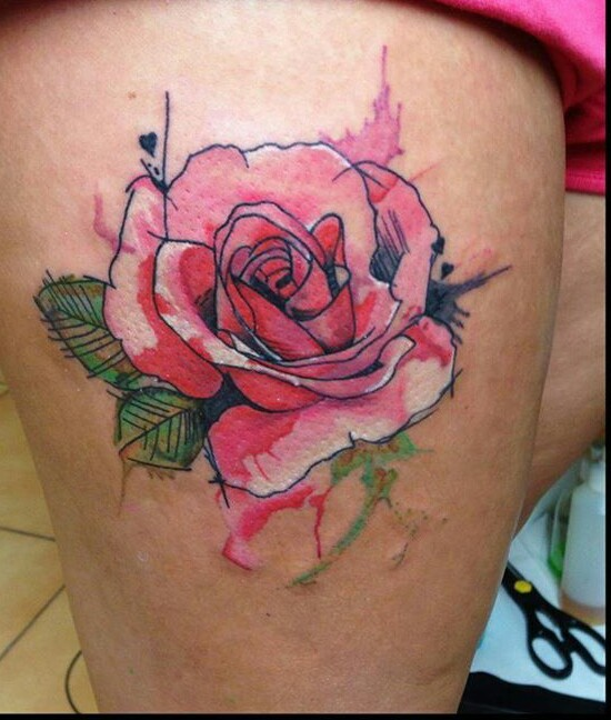 Aquarelle Tattoo Discovered By Fiona On We Heart It
