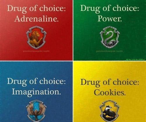 harry potter, hufflepuff, and slytherin image
