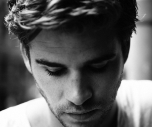 liam hemsworth, black and white, and boy image