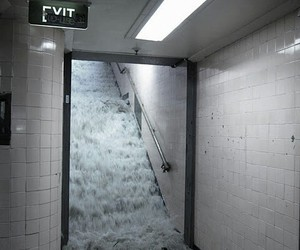 water, grunge, and exit image