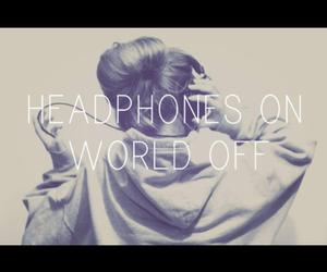 headphones, music, and world image