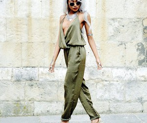 fashion, green, and jumpsuit image