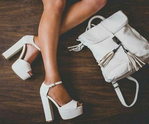white, fashion, and shoes image