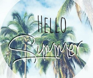 summer, hello, and beach image