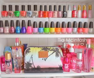 bag, make up, and nail polish image
