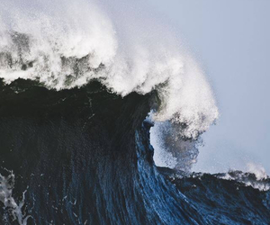 ocean, wave, and blue image