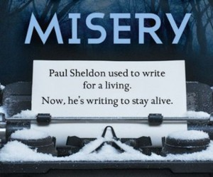 book, misery, and Stephen King image