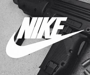nike, gun, and black image