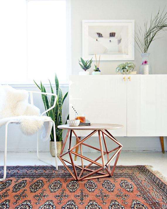 coffee table, diy, and living room image