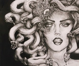 art, gods, and tattoo image