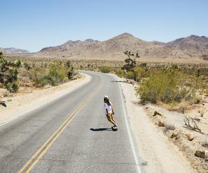skate, girl, and summer image