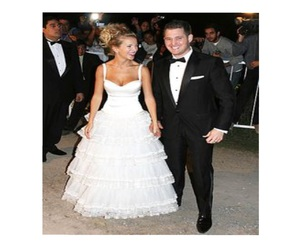 wedding dress, luisana lopilato, and vestido de novia image