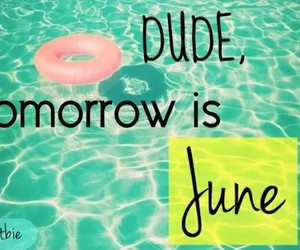 june, summer, and dude image