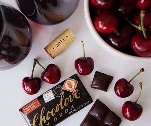 cherry, chocolate, and food image