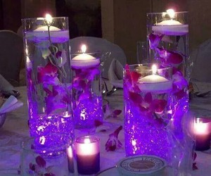 candle, decoration, and purple image