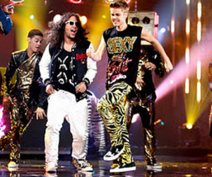 justin bieber and lmfao image